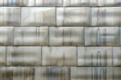 Brushed steel plate background