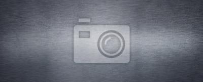 Fototapeta Brushed steel plate background texture horizontal