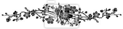 Fototapeta Brzoskwiniowy kwiat wiśni kwiat wzór element projektu