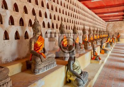 Budda na Wat Sisaket. Wientian. Laos.