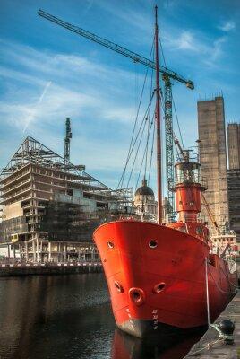 Fototapeta Budowa Liverpool Dock