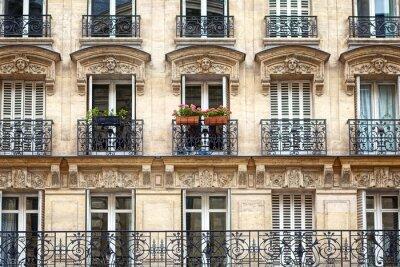Fototapeta Budynek mieszkalny z balkonem