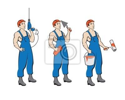 Builders. Elektronika, murarz, malarz