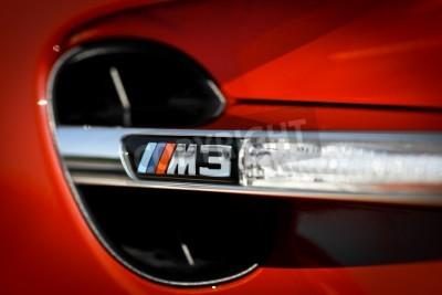 Fototapeta Bukareszt, Rumunia - 04 lipca 2013: Szczegóły vent z BMW M3 samochodu. BMW M3 jest w wersji o wysokiej wydajności BMW 3-Series, opracowany przez podział, BMW Motorsport BMW M.