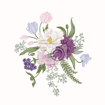 Bukiet kwiatów wiosennych.