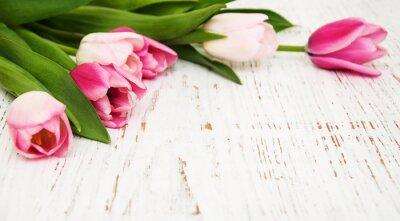 Fototapeta bukiet różowych tulipanów