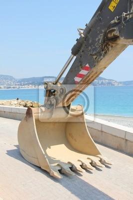 Bulldozer w plaży