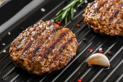 Fototapeta burger grill patelnia