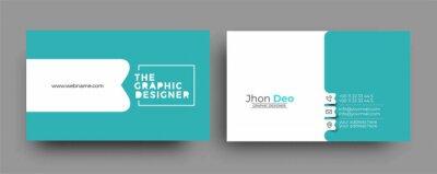 Fototapeta Business Card - Creative and Clean Modern Business Card Template.