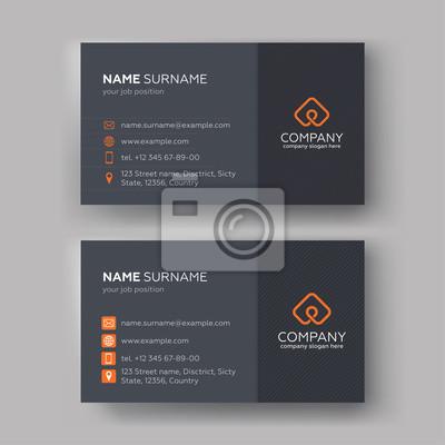 Fototapeta Business card templates