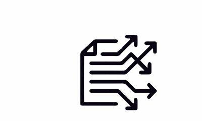 Fototapeta  Business line icon vector design