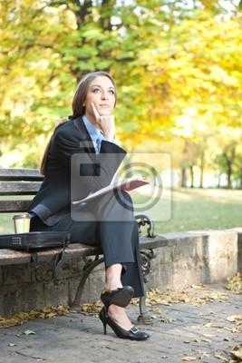 Fototapeta Businesswoman Myślenie