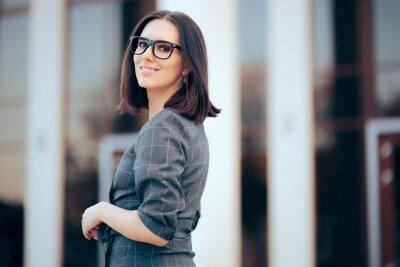 Fototapeta Businesswoman Wearing Eyeglasses in Outdoor Portrait