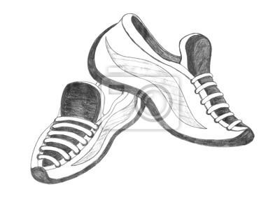 9bca81ef78a19 Fototapeta buty sportowe rysunek na wymiar • obuwie, but, projekt ...