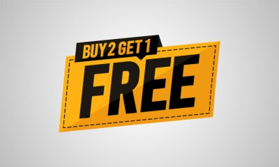 Fototapeta Buy two get one free banner