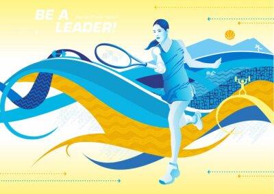 Fototapeta być tenis liderem