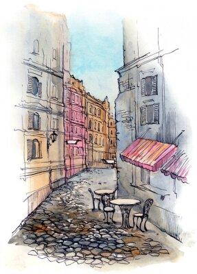 Fototapeta cafe na ulicy