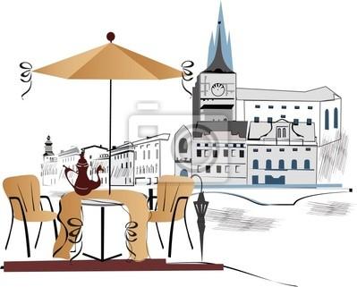 Cafe w mieście