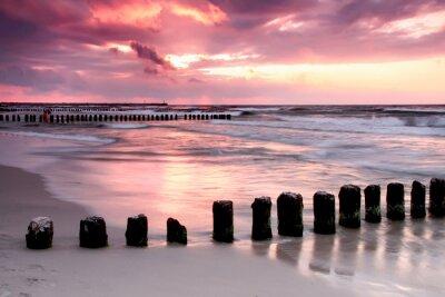 Fototapeta Calmness.Beautiful słońca na Bałtyku .