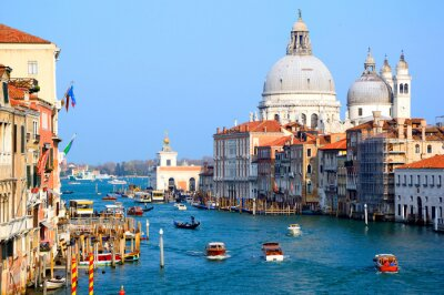 Fototapeta Canal Grande w Wenecji z pięknym Santa Maria della Salute