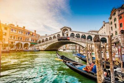 Fototapeta Canal Grande z mostu Rialto na zachód słońca, Wenecja, Włochy