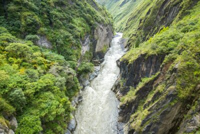 Fototapeta Canyon of Pastaza River near Banos in Ecuador
