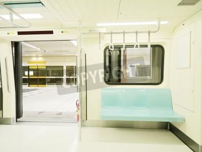 Fototapeta Carriage of  subway train