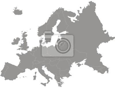 Fototapeta carte d'europe