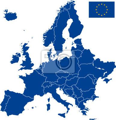 Fototapeta Carte Europa wektorowych
