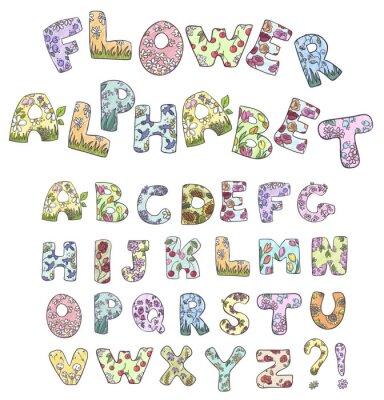 Fototapeta Cartoon kwiat alfabetu. Ilustracji wektorowych.