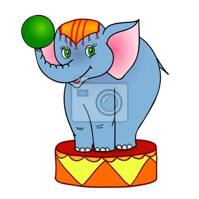 cartoon słoń cyrkowy