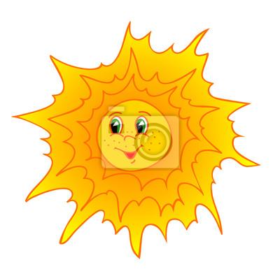 cartoon słońce