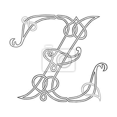 Fototapeta Celtic Knot Praca Litera Z Stylizowane Drzewo Na Wymiar