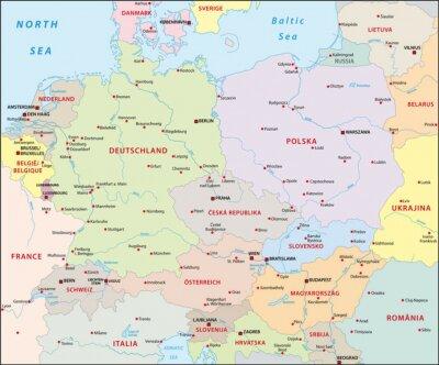 Fototapeta Central-Europa, Europa Środkowa