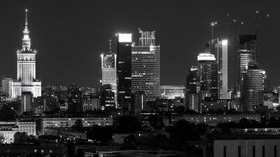 Fototapeta Centrum Warszawy w nocy