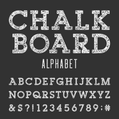 Fototapeta Chalkboard Alfabet wektor czcionki