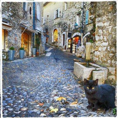 Fototapeta charakterystyczne wsie Provence -st. Paul de Vence