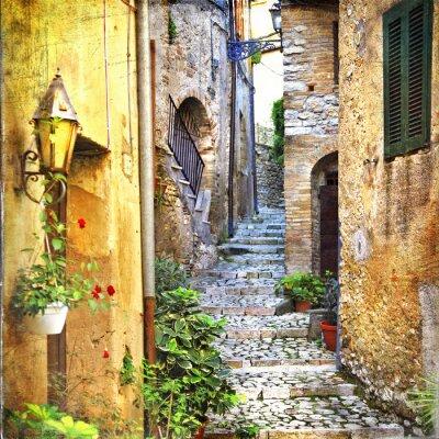 Fototapeta charming old streets of mediterranean
