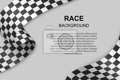 Fototapeta Checkered flag background . Vector illustration