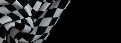 Fototapeta checkered flag, end race background