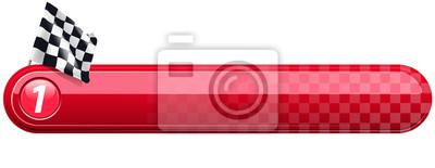 Fototapeta checkered racing banner