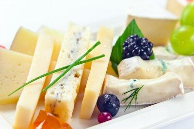 Fototapeta cheese with berries