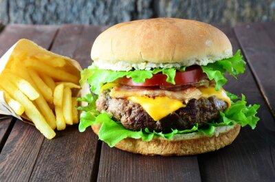 Fototapeta Cheeseburger