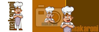 Fototapeta chef mascot logo illustration