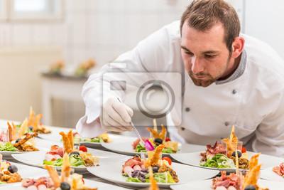 Fototapeta Chef ozdoby talerz przystawek