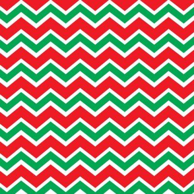 Fototapeta Chevron wzór w kolorze czerwonym i zielonym