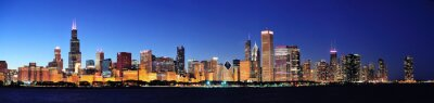 Chicago noc panorama