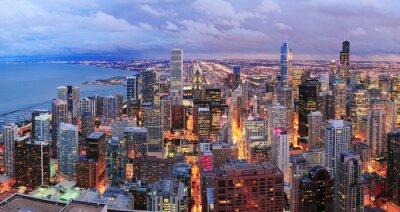 Chicago skyline panorama z lotu ptaka