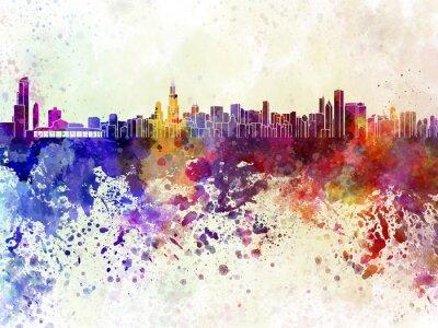 Fototapeta Chicago skyline w akwarela