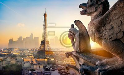 Fototapeta Chimera and Eiffel Tower